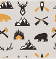 outdoor tourist travel scout badges template vector image