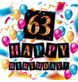 63rd anniversary celebration design vector image vector image