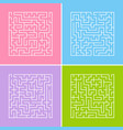 a square labyrinth with an entrance and an exit a vector image vector image
