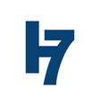 abstract h7 seven logo graphic design with star vector image vector image
