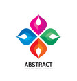 abstract logo template social vector image vector image