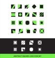 Abstract square logo icon set flat vector image