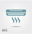 Air conditioner icon in flat style isolated on