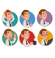 avatars of office worker vector image vector image