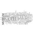bath england text word cloud concept vector image vector image