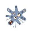 Blue Blot Shaped Aggressive Malignant Bacteria vector image vector image