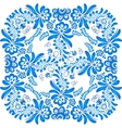 Blue floral ornament in gzhel style vector image vector image