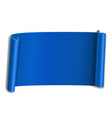 blue scroll isolated on white background paper vector image vector image