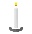 candle on a white background vector image vector image