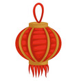 chinese lantern isolated object oriental lamp or vector image