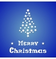 Christmas and New Year blue background with vector image vector image