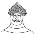 crest sir thomas de saint vintage engraving vector image vector image