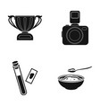 cup camera and other web icon in black style vector image vector image