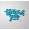 Custom handwritten Thank you card grunge lettering vector image