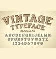 decorative vintage retro typeface font vector image vector image