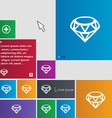 Diamond Icon sign buttons Modern interface website