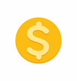 dollar currency symbol on gold coin vector image vector image
