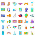 electronic gadget icons set cartoon style vector image vector image