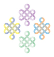Endless chinese knot pastel color vector image vector image