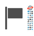 flag pointer icon with free bonus vector image vector image