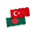 flags turkey and bangladesh on a white