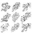 floral decorative elements collection vector image vector image