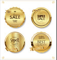 golden retro sale badges and labels collection 4 vector image vector image