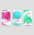 gradient liquid waves three kinds of color banner vector image