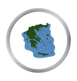 Greece territory icon in cartoon style isolated on vector image vector image