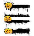grunge Halloweenborders vector image vector image