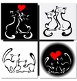 Happy cats in love vector image