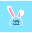 happy easter with rabbit ears mask vector image vector image