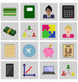 icon of business vector image