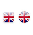 Icons with Union Jack flag vector image vector image