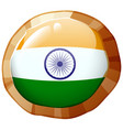 india flag design on round badge vector image vector image