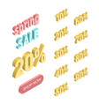 isolated set elements for an isometric banner vector image