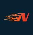 letter n flame logo speed logo design concept vector image