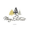 Merry Christmas text design logo vector image