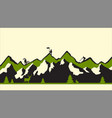 modern green flat mountains vector image vector image