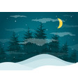 night in woods vector image vector image