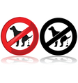 No dog poop vector image