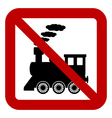 No locomotive sign vector image vector image