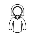 pictogram woman icon vector image vector image