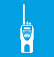 radio transmitter icon white vector image vector image