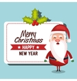 santa claus card merry christmas design vector image