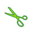 scissors sign lemon scribble vector image vector image