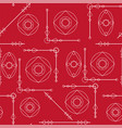 seamless geometric pattern texture in red and vector image