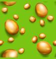 seamless pattern of golden easter eggs vector image