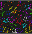 seamless texture of colored stars vector image vector image