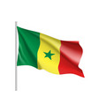 senegal realistic flag vector image vector image